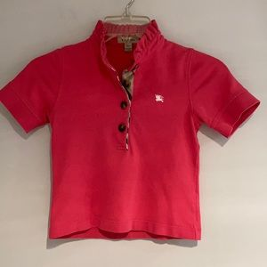 BURBERRY Pink polo shirt shirt sleeves Size 10